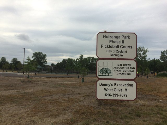Huizenga Park Pickleball Courts - Dennys Excavating