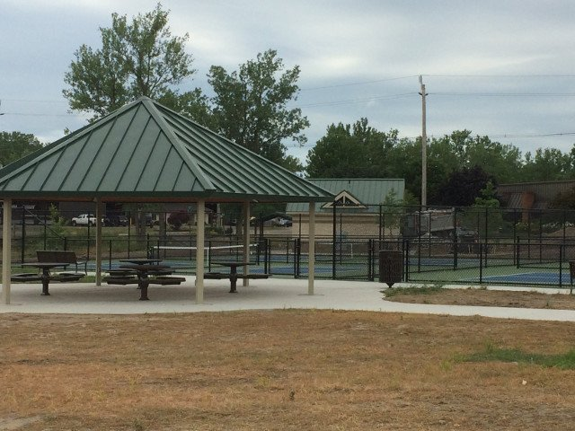 Pavilion & Pickleball Courts by Dennys Excavating